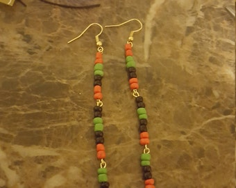 Rasta earrings  / Afrocentric earrings