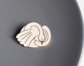 """Bird brooch """"Swan"""""""