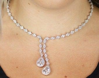 Wedding Jewelry, Bridal Jewelry, Cubic Zirconia Jewelry, CZ Necklace, Bridal Necklace, Wedding Necklace, Bridesmaid Necklace, Wedding Sets