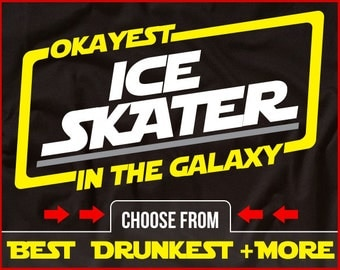 Okayest Ice Skater In The Galaxy Shirt Funny Ice Skating Shirt GIft for Ice Skater