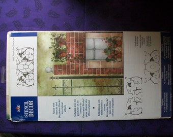 Wrought Iron Window Box Stencil