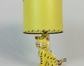 1950s Tiger Lamp with Fiberglass Shade
