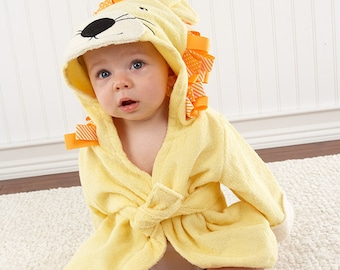Big-Top-Bath-Time-Lion-Hooded-Spa-Robe , Baby Shower Gift, Baby Bath Robe, Infant Terry Towel