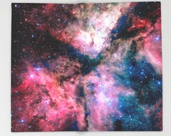 Milky Way Throw Blanket, Outer Space Decor, Home Decor, Carina Nebula