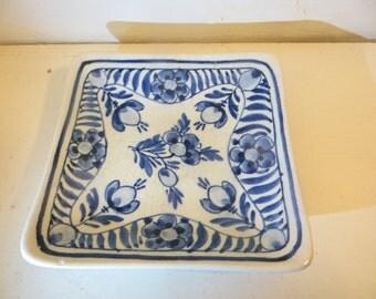 Vintage Hand painted Delft Trinket Dish De Pauw Holland Blue & White