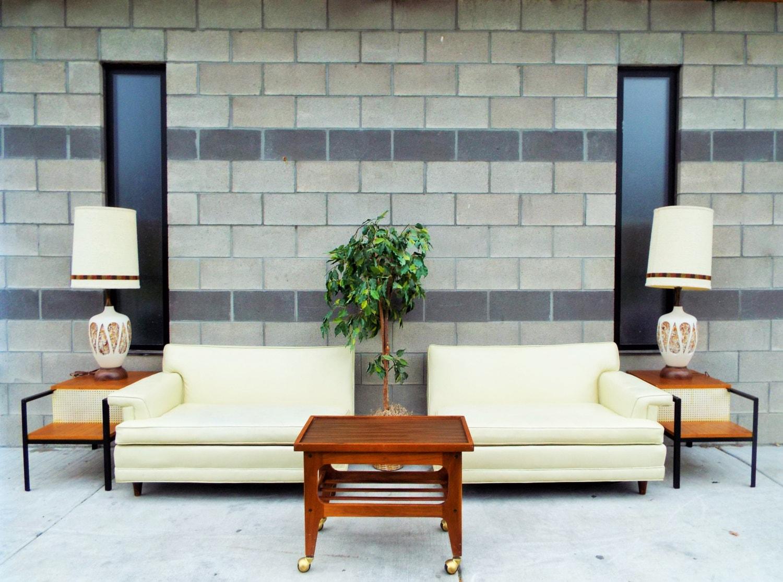 kroehler midcentury modern sectional sofa