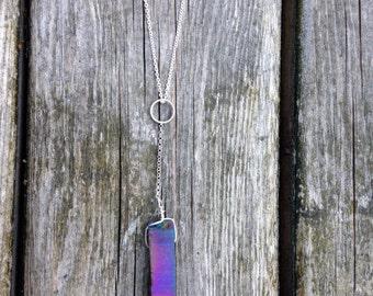 Simple Rainbow Aura Y-Necklace