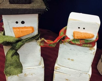 Block Snowmen Set