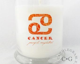 Soy Jar Candle by CandleGram 10oz...Zodiac, Astrological Sign, Cancer