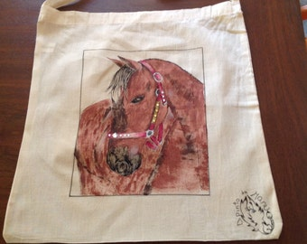 Shopping bag with horse