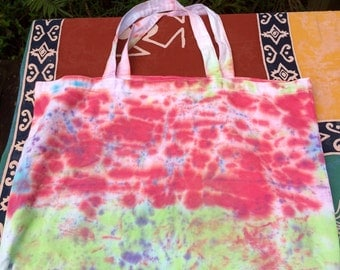 Large tie dye tote bag