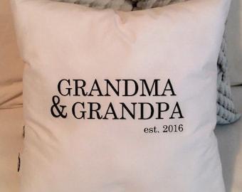 Grandparents Pillow