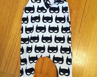 Batmask Harem Romper size 12-18 Months.