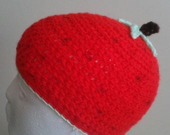 strawberry crochet hat
