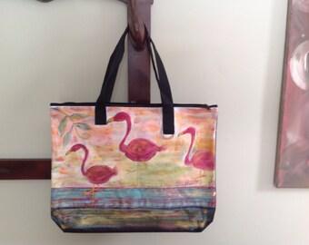 Caba Flamingo colored bag