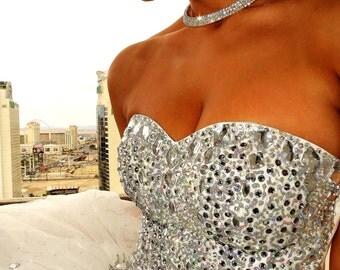 Wedding dress with Swarovski crystals & Sparkling By LauraG-crystals.com Be Unique