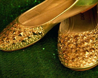 Costume Shoes Swarovski crystals and Metallic Details By LauraG-crystals.com Enjoy With Us
