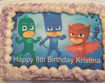 Pj Masks cake topper, cupcake topper, frosting sheet, edible images