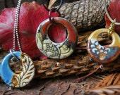 The Donut Pendant Series/Ceramic Pendants