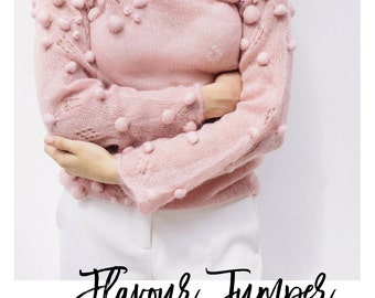 PINK FLAVOUR JUMPER - hand knitted kid mohair silk sweater