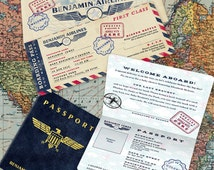 Vintage Aviation Theme Party Invitation