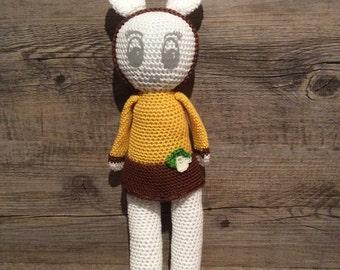 Doll Doudou yellow-brown