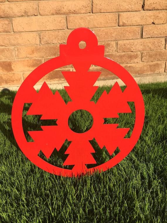 Ornament metal yard decor ornaments christmas