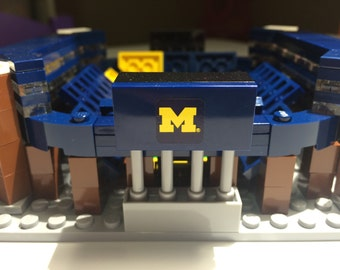 Mini Michigan Stadium LEGO Model- The Big HOUSE