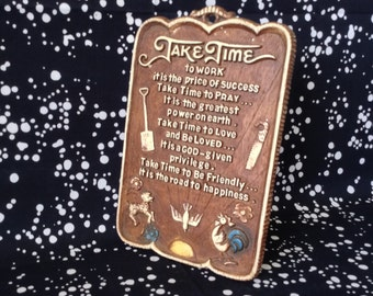 Take Time~Multi Products Inc.~Wall Plaque~Vintage