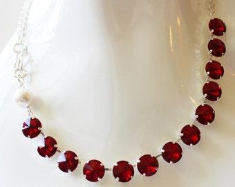 Siam crystal necklace