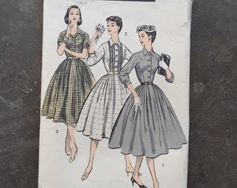 Vintage Sewing Pattern, Advance 8057 Size 12, Bust 32, 1950's 50's