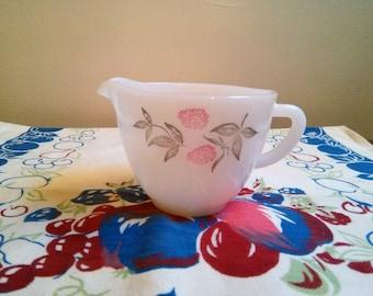 Vintage Federal Clover Blossom Creamer, Raspberry Federal Glass Creamer, Federal Milk Glass Creamer