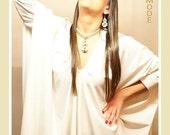 White Dress / White Kaftan / Asymmetrical White Maxi Dress / White Wedding Dress / Plus Size Maternity Clothing / Backless Dress / Abaya