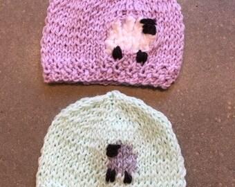 Preemie Lamb Hat
