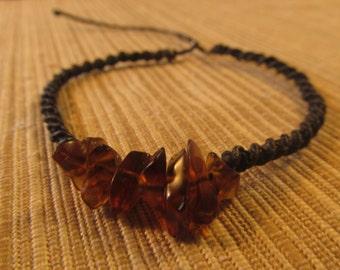 macrame bracelet amber