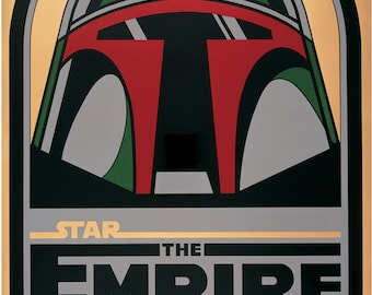 Empire Strikes Back - Boba Fett Helmet Variant - Art Print