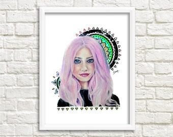 Mandala Goddess - Art Print