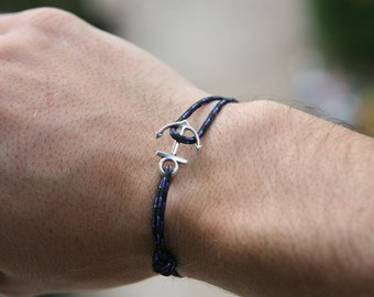 Anchor marine rope bracelet