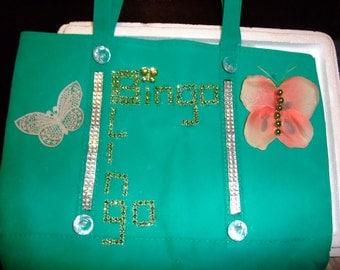 Large Bingo Blingo Canvas Bingo Tote Bag - Bingo Bag - Bingo Tote Bag - Bingo Dauber Bag