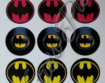 30 PreCut Batman Bottle Cap Images