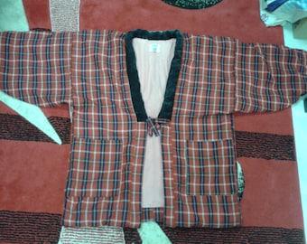 vintage Japanese Kimono Jacket Short robe