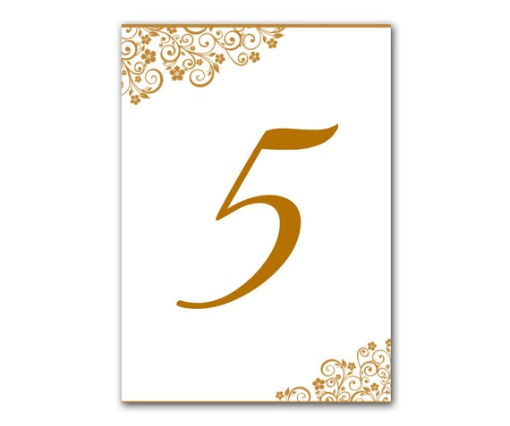 editable wedding table number template gold table number. Black Bedroom Furniture Sets. Home Design Ideas