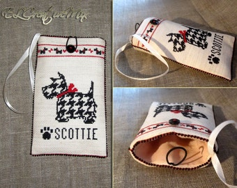 "Cross Stitched Phone Case ""Scotti"""