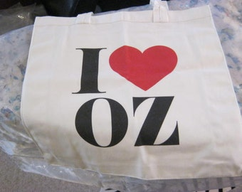 i love oz canvas tote bag.