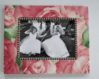 Rose fabric photo mat