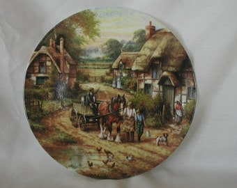 "Wedgewood China Plate, Country Days Series, ""Early Morning Milk"" by Chris Howells 1991"
