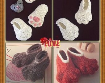 Crochet Booties - Baby Booties - Animal Booties - Knit Booties - Baby Shoe - Cute Bootie