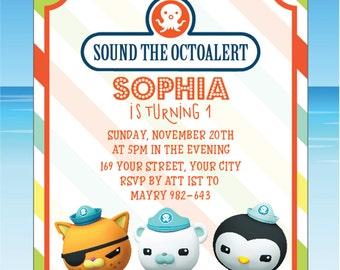 Octonauts Birthday - octonauts invitation - octonauts printable - Octonauts Birthday Invitation, Octonauts Party, Octonauts Birthday - MS01