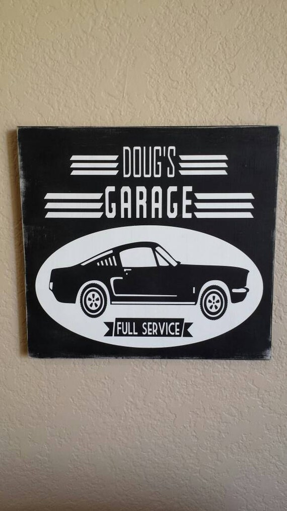 Personalized Garage Signs For Automotive : Items similar to garage full service personalized wood
