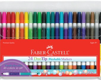 Faber-Castell DuoTip Washable Markers - 24 count set